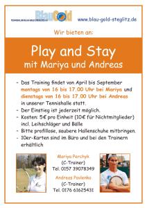 Play and Stay mit Andreas @ Tennishalle | Berlin | Berlin | Deutschland