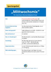 Mittwochsmix @ Tennisklub Blau-Gold Steglitz | Berlin | Berlin | Deutschland
