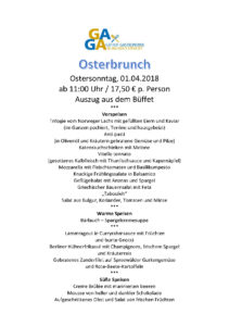 Osterbrunch @ Tennisklub Blau-Gold Steglitz | Berlin | Berlin | Deutschland