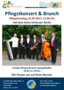 Pfingstkonzert & Brunch @ Tennisklub Blau-Gold steglitz | Berlin | Berlin | Deutschland