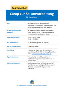 Camp zur Saisonvorbereitung @ Tennisklub Blau-Gold Steglitz