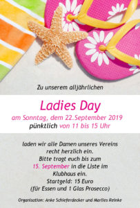 Ladies Day @ Blau Gold